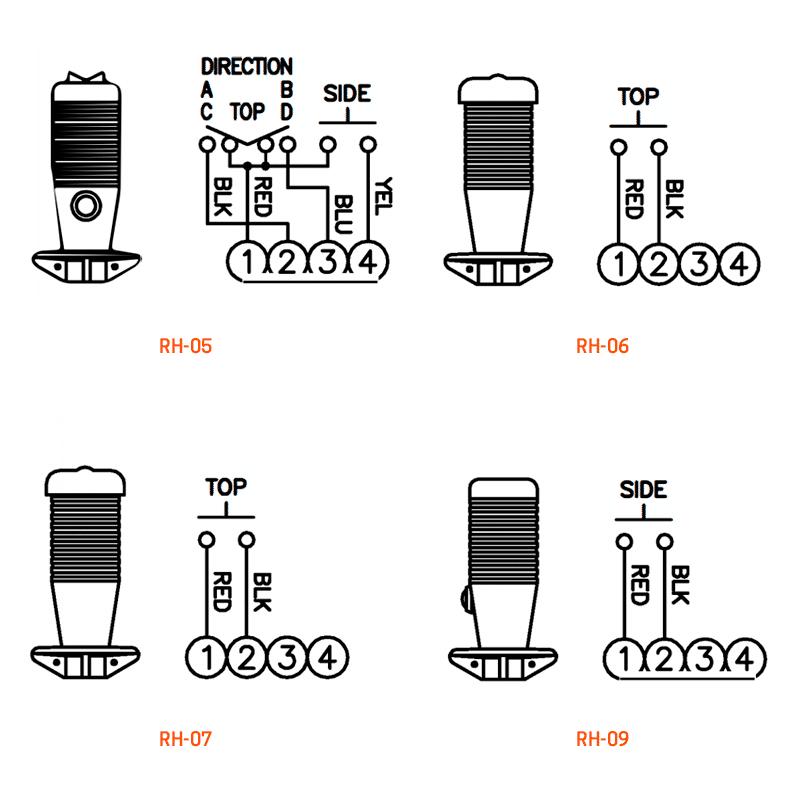 RH-05, RH-06, RH-07, RH-09 wiring details