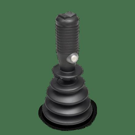 RH-05 rocker handle with top mounted rocker switch & side mounted push button