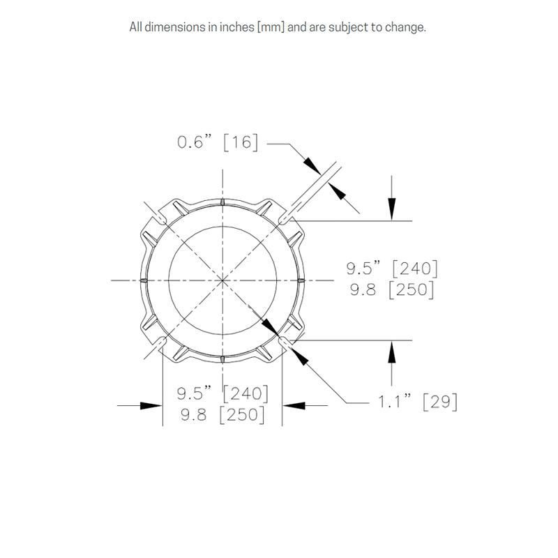 Mounting flange details