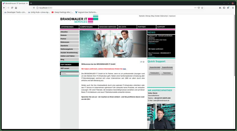 BRANDMAUER IT GmbH Website