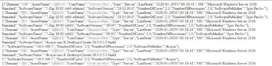 Lansweeper Web API Example Edition