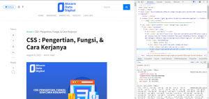 Tampilan HTML dari Blog Aksara Data