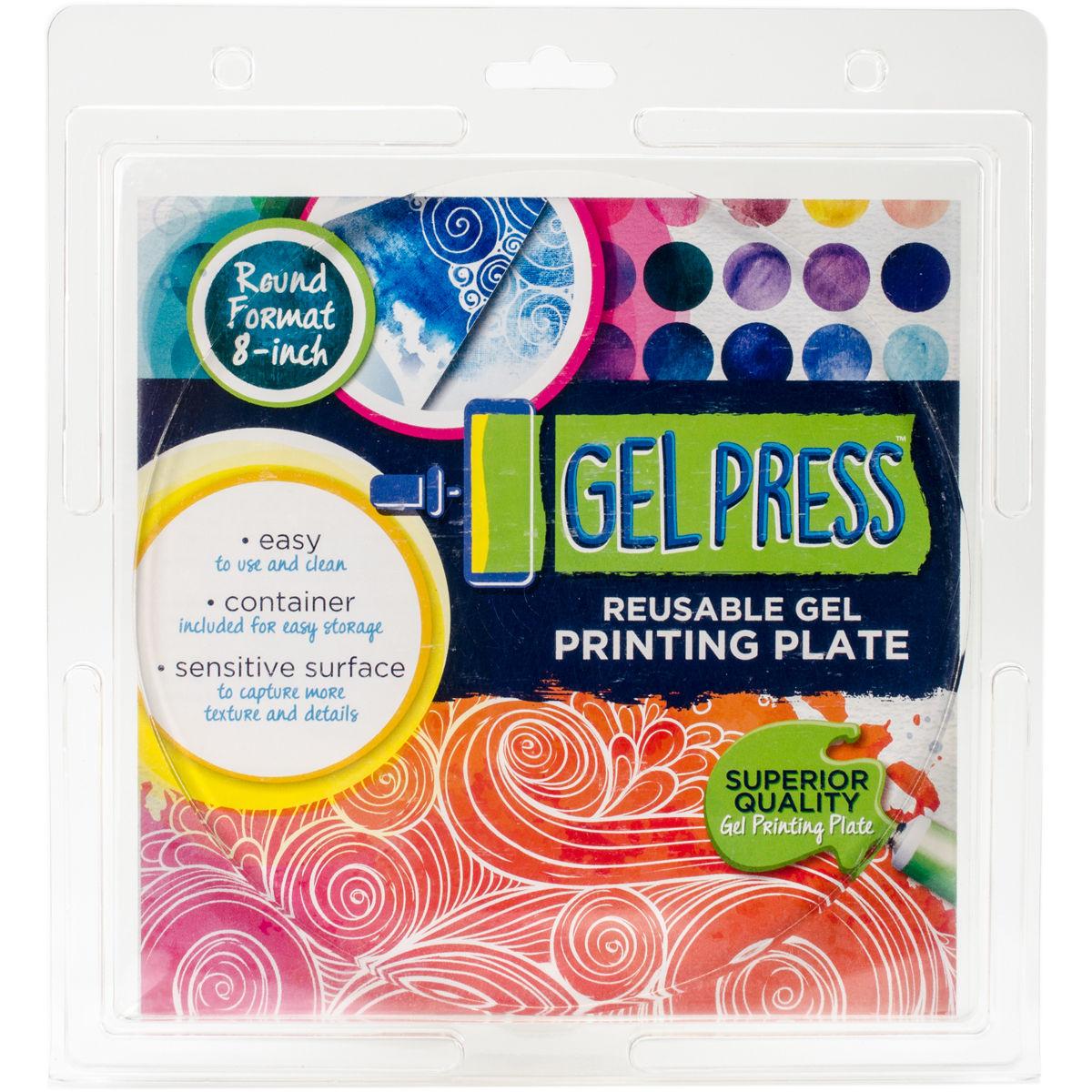 Gel Press Impressables 7 Embossed Repeat Circles Block Printing 10815-JEN-01