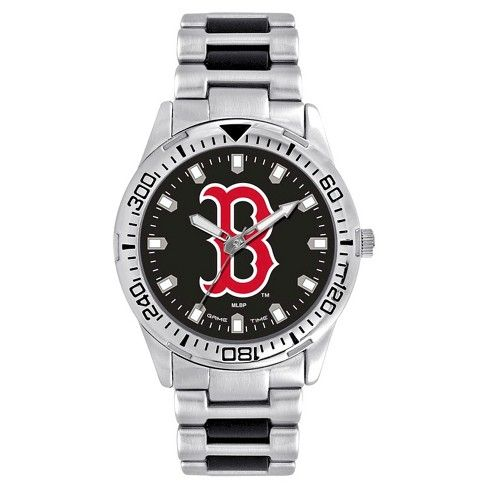 Men's Game Time MLB Heavy Hitter Sports Watch - Silver - Boston Red Sox