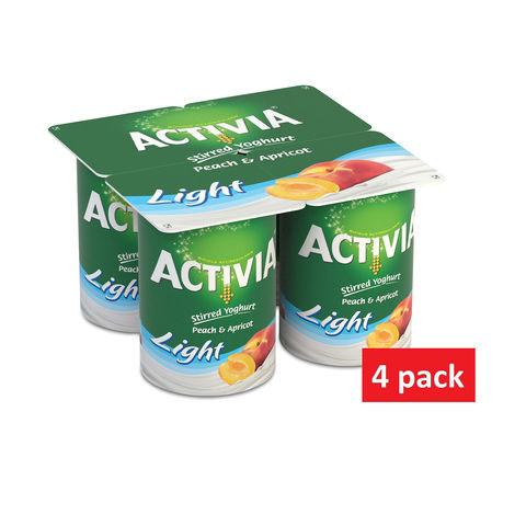 Activia Yoghurt Peach Apricot 120gx4