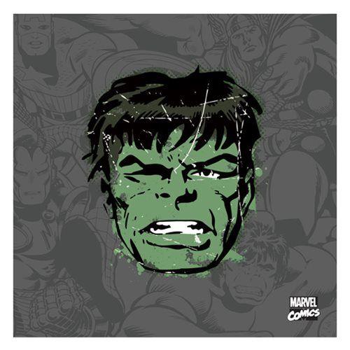 Hulk Distressed Canvas Print - Buy Online in Oman