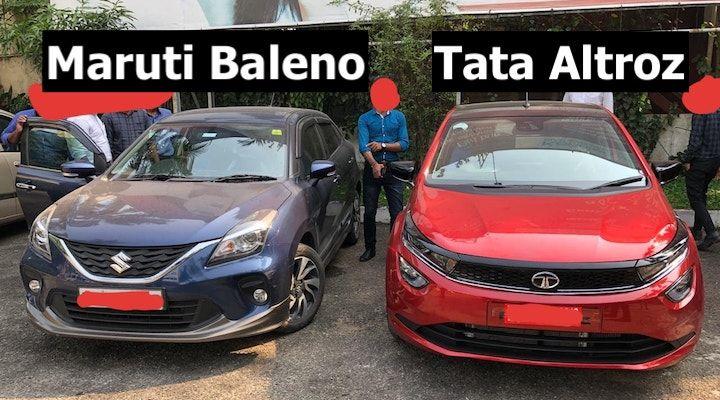 tata altroz and Maruti baleno