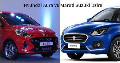 Hyundai Aura vs Maruti Suzuki Dzire Image