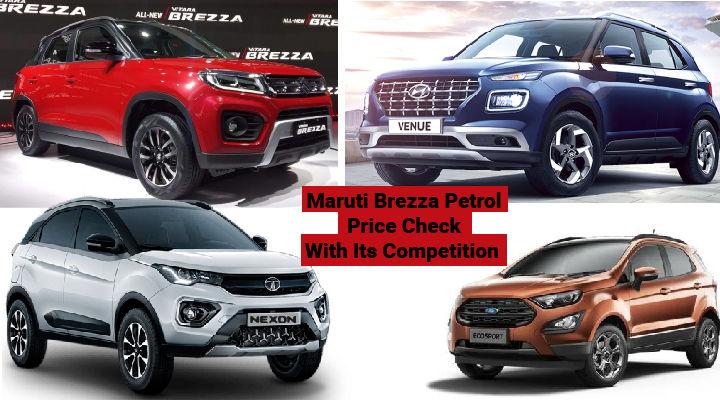 Maruti Brezza vs Hyundai Venue vs Tata Nexon - Petrol Price Comparison