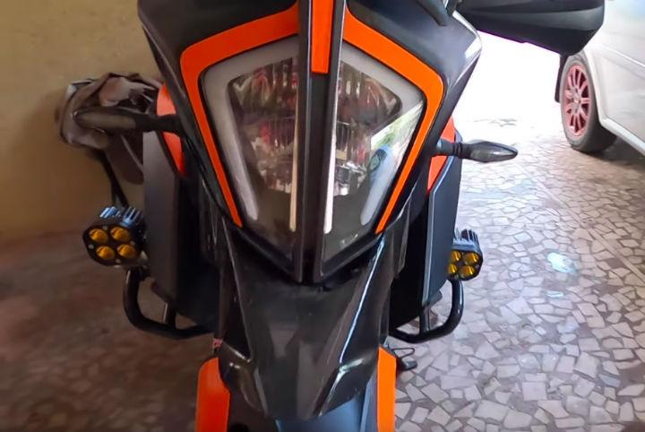 modified KTM 390 Adventure
