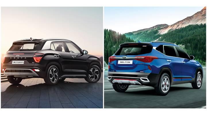 2020 Hyundai Creta vs Kia Seltos Rear Image