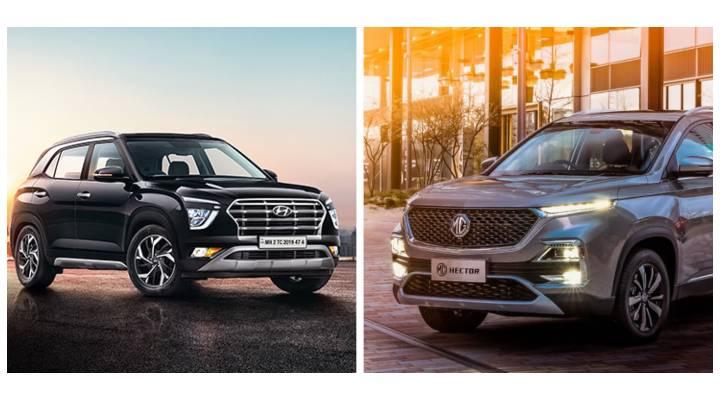 2020 Hyundai Creta vs MG Hector Image