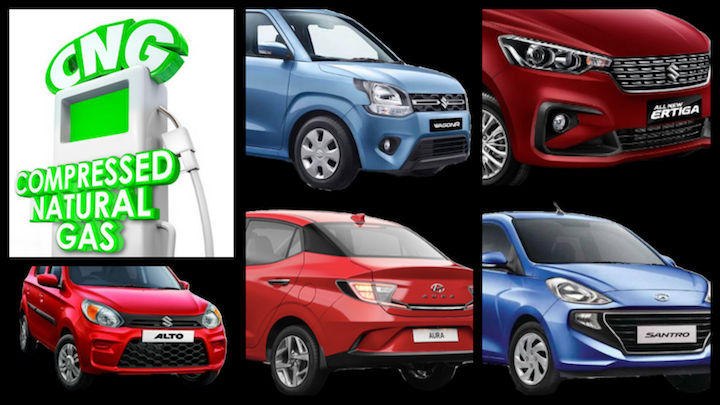 Most Affordable CNG Cars In India - From Maruti Alto To Hyundai Aura