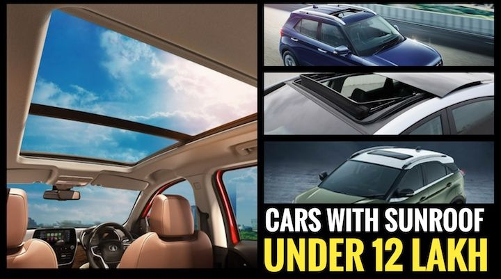 cars with sunroof under rs 12 lakh