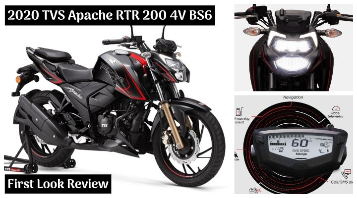 2020 TVS Apache RTR 200 4V BS6 First Look Review - The Best All-Rounder 200cc Bike?