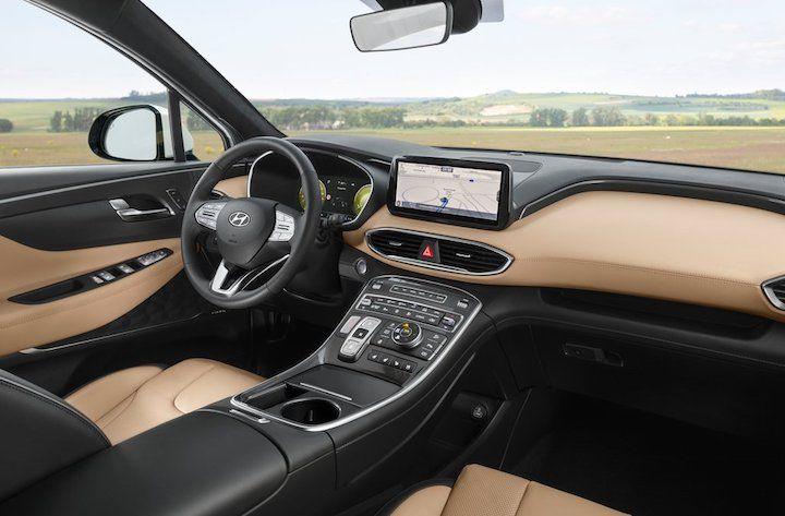 2021 Hyundai Santa Fe interiors