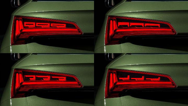 2021 Audi Q5 facelift OLED lights
