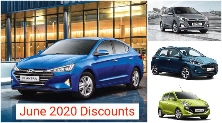 Hyundai Cars June 2020 Discounts; 1 Lakh off on Elantra!