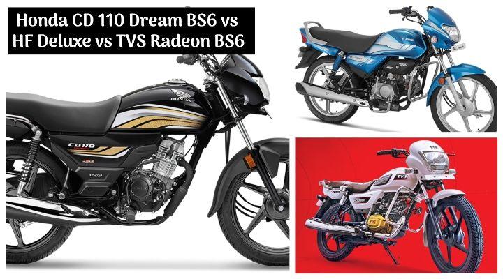 2020 Honda CD 110 Dream BS6 vs Hero HF Deluxe vs TVS Radeon - Which is the Best Commuter?