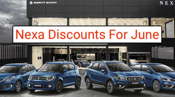Maruti Nexa Cars Discounts in June 2020; Ciaz to Baleno