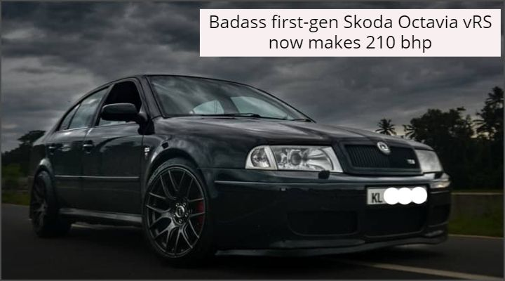 This Skoda Octavia vRS With 5-speed Manual Gearbox Makes 210 bhp