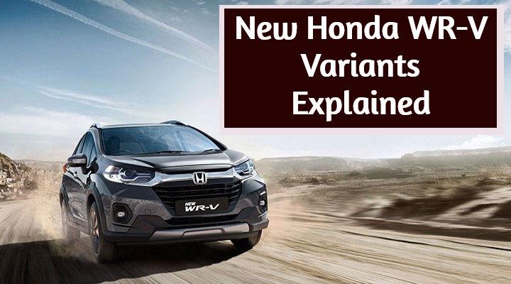 2020 Honda WR-V Facelift BS6 Variants Explained