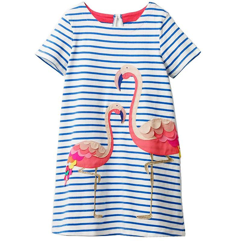 Short Sleeve Flamingo Dress