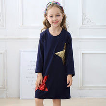 Load image into Gallery viewer, Long Sleeve Reversible Sequin Star Dress