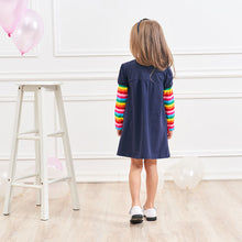 Load image into Gallery viewer, Long Sleeve Butterfly Rainbow Dress