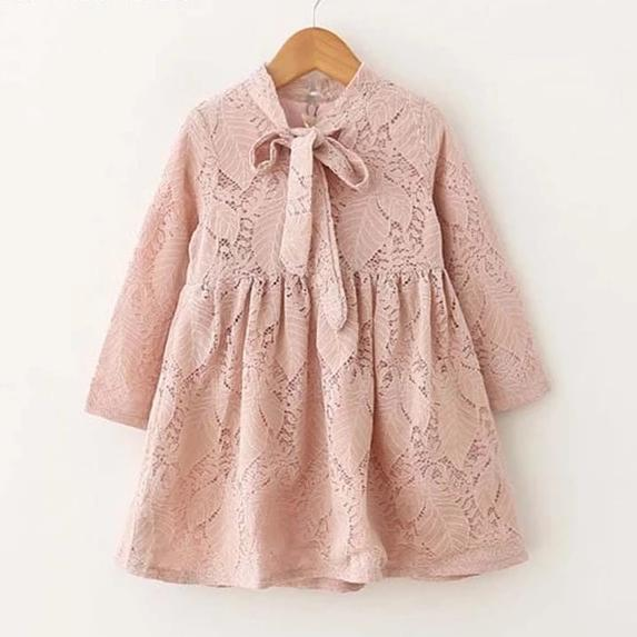 Autumn Lace Overlay Dress