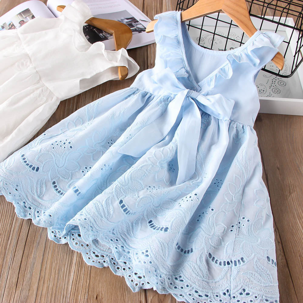 Embroidered Bow Back Sundress