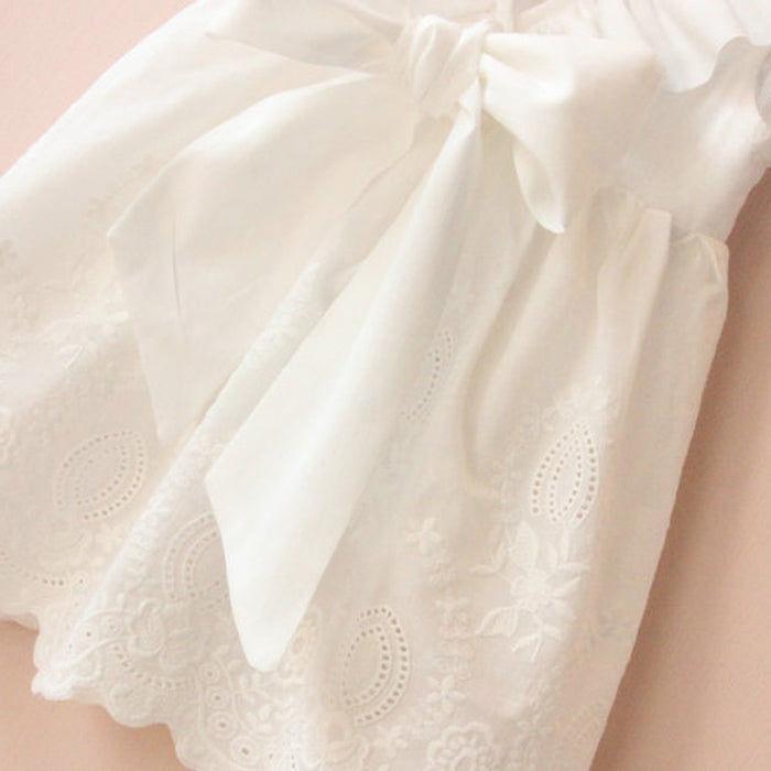White Embroidered Sundress