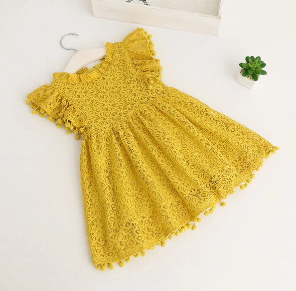 Vintage Lace Pom Pom Dress