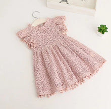 Load image into Gallery viewer, Vintage Lace Pom Pom Dress