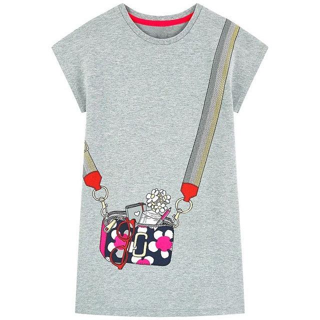 Short Sleeve Shoulder Bag Dress