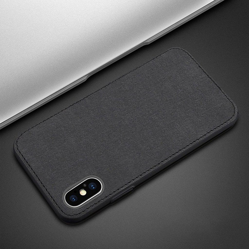 finest selection 864f9 8680a Ultra Thin Leather Texture Fabric Series iPhone X/XS Cloth Case