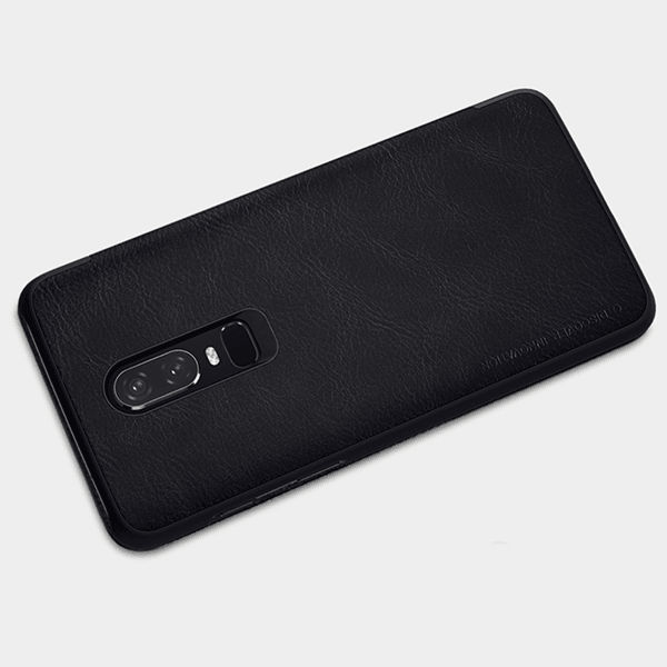 buy popular e3f32 8ce8b Genuine Leather Card Slot OnePlus 6 Nillkin Flip Case