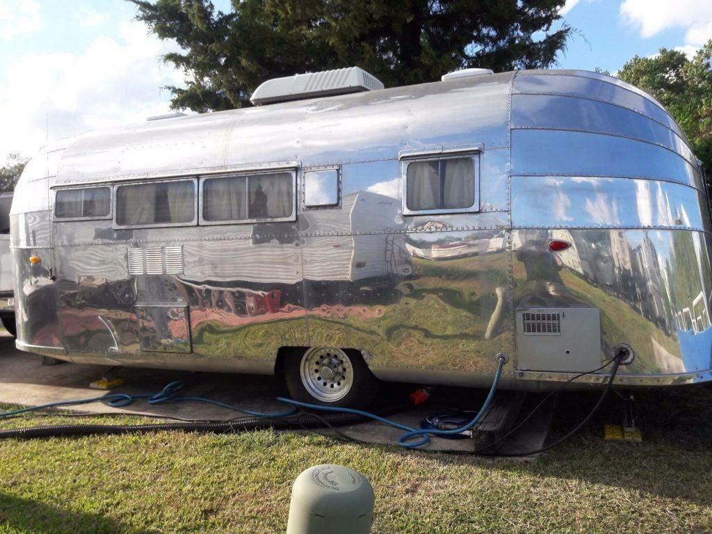 frame off restored 1953 Airstream camper trailer