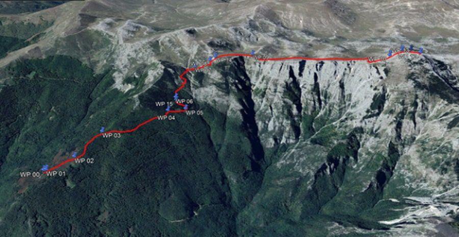 tours/map Cheples to Solunska Glava Peak