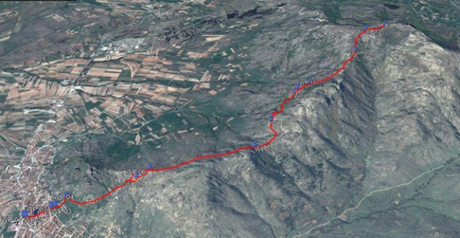 tours/map hiking treskavec