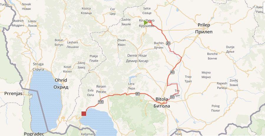 tours/map krushevo bitola prespa