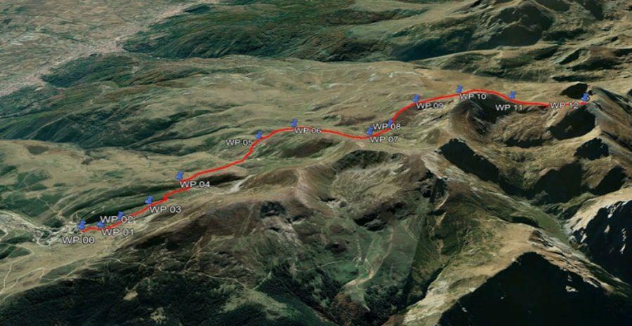 tours/map to Titov Vrv (summer trail)