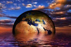 A globális felmelegedés veszélyeire figyelmeztető művészi illusztráció Forrás: pixabay.com