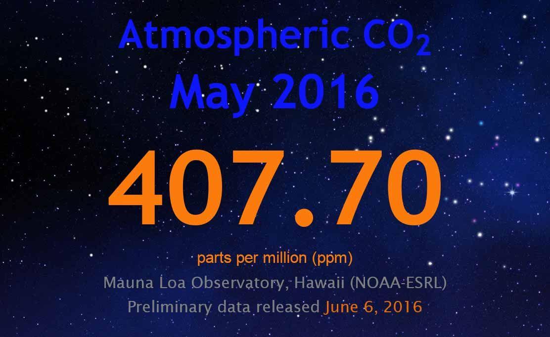 407,7 ppm szén-dioxid szint és ez már drámai