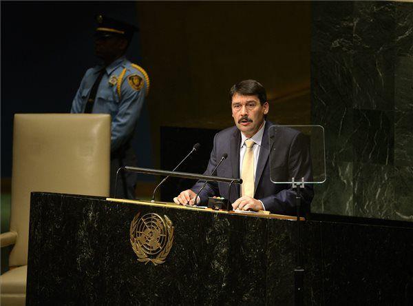 ENSZ Közgyűlés – Áder cselekvést sürgetett…