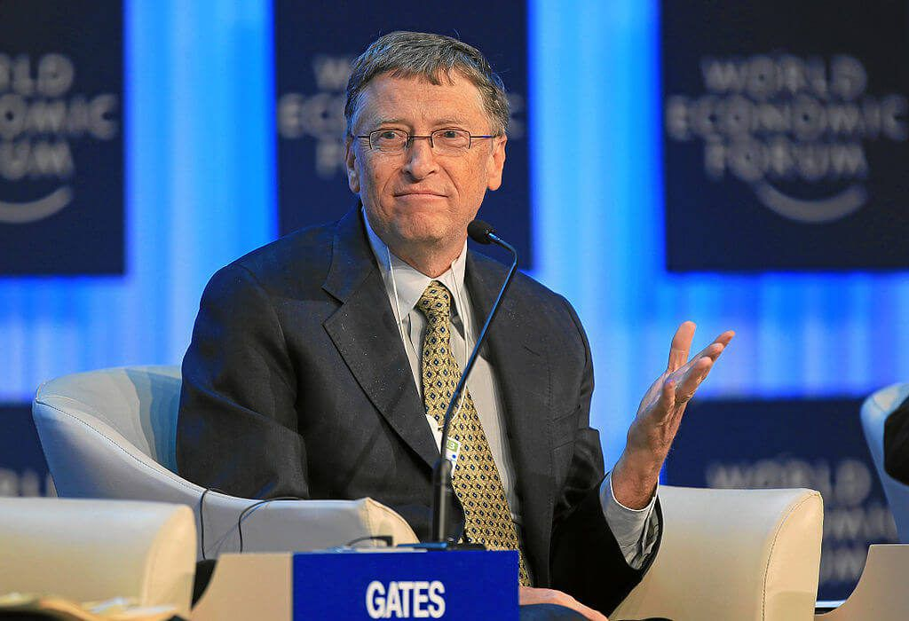 "Philanthropist and Microsoft co-founder Bill Gates recently said in an interview: ""...you want to demonstrate generosity and take in refugees. But the more generous you are, the more word gets around about this -- which in turn motivates more people to leave Africa. Germany cannot possibly take in the huge number of people who are wanting to make their way to Europe."" (Photo by World Economic Forum/Wikimedia Commons)"