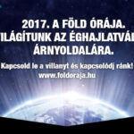 Föld órája + | 2017 | ClimeNews - Hírportál