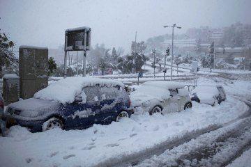 Snow storm in Jerusalem