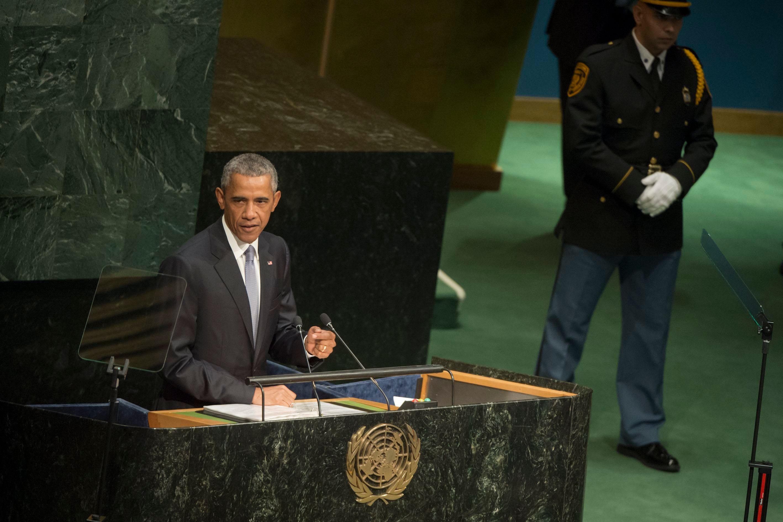 Barack Obama amerikai elnök vasárnap az ENSZ-ben