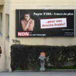 Atomenergia-párti hirdetés Lausanne-ban | Fotó: Fabrice Coffrini / AFP - Svájc lemond az atomenergiáról | ClimeNews - Hírportál
